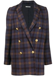 Circolo 1901 Double Breasted Check Jacket 60
