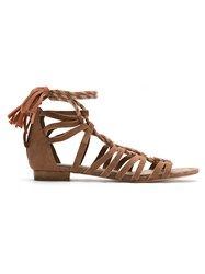 Nk Gladiator Sandals Leather Brown