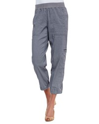 Eileen Fisher Cargo Linen Blend Ankle Pants Pewter Silver Petite Women's
