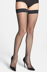 Oroblu 'Bas Tricot' Thigh High Stockings Black