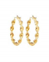 Roberto Coin 18K Yellow Gold Twisted Oval Hoop Earrings