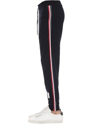 Thom Browne Cotton Sweatpants W 4 Bar Stripe Navy