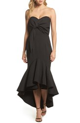 Jarlo 'S Freda Knotted Strapless Mermaid Gown Black