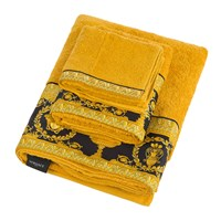 Versace Home Barocco And Robe Towel Gold Black Yellow Gold