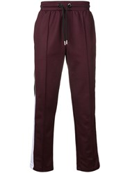 Les Hommes Side Stripe Track Trousers Red