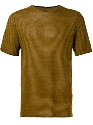Transit Striped T Shirt Brown