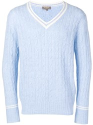 N.Peal Cable Knit Sweater Blue
