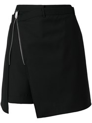Alyx Side Zip A Line Skirt Virgin Wool Cotton Black