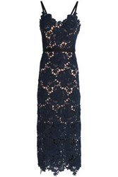 Catherine Deane Guipure Lace Gown Navy
