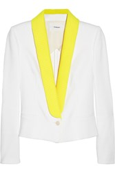 Chalayan Cotton Blend Sateen Tuxedo Jacket White