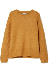 By Malene Birger Ana Rib Trimmed Knitted Sweater Camel