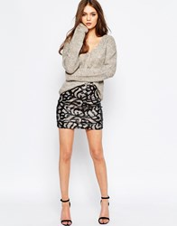 Goldie High Hopes Embroidered Skirt Black