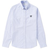 Kenzo Button Down Tiger Oxford Shirt Blue