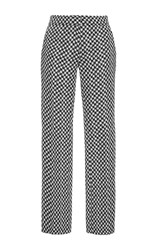 Derek Lam Herringbone Cropped Trousers Plaid