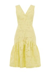 Warehouse Burn Out Dress Lemon