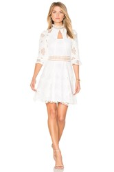Nicholas Pollen Lace Panel Dress White