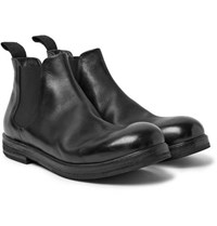 Marsell Leather Chelsea Boots Black