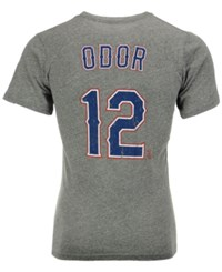 Majestic Men's Rougned Odor Texas Rangers Tri Blend Player T Shirt Heather Gray
