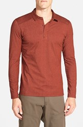 Men's Arc'teryx 'Captive' Trim Fit Performance Long Sleeve Polo Piquant Red