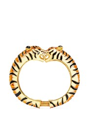 Kenneth Jay Lane Enamel Double Tiger Gold Plated Cuff Multi Colour