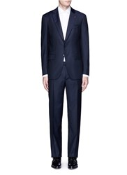Isaia 'Gregory' Aquaspider Wool Suit Blue