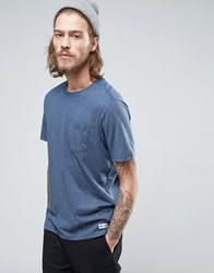Element Basic Pocket T Shirt In Blue Heather Blue