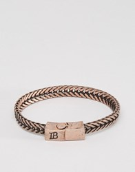 Icon Brand Chain Bracelet In Gold Gold