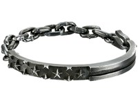 King Baby Studio Flag Id Bracelet With Chain And Hook Silver Bracelet