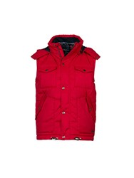 Raging Bull Quilted Hooded Gilet Red