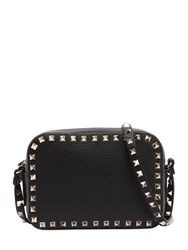 Valentino Garavani Rockstud Leather Camera Bag Black