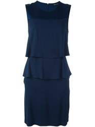 Twin Set Layered Dress Blue