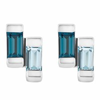 Neola Anais Sterling Silver Stud Earrings With London And Blue Topaz
