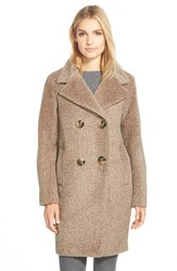 Sofia Cashmere Notch Collar Wool And Alpaca Boucle Coat 8