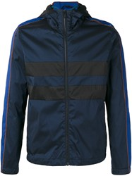 Paul Smith Ps By Hooded Anorak Jacket Blue
