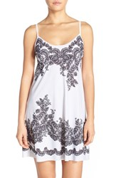 Women's Commando Print Chemise Antique Lace Grey