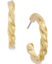 Alfani Gold Tone Small Twist Hoop Earrings