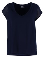 Saint Tropez Basic Tshirt Black Iris Dark Blue