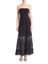 Elie Tahari Lunetta Stretch Strapless Dress Black