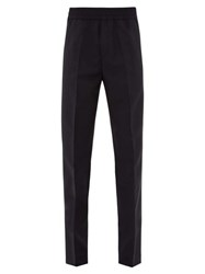 Acne Studios Ryder Elasticated Waist Wool Blend Trousers Navy