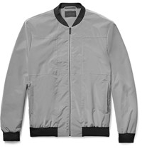 Christopher Kane Panelled Shell Bomber Jacket Light Gray