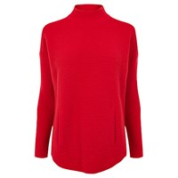 Karen Millen Ribbed Turtleneck Jumper Red