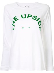 The Upside Logo Long Sleeve T Shirt White