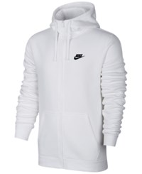 Nike Men's Fleece Zip Hoodie White Black