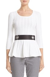 St. John Women's Collection Icacos Knit Peplum Top