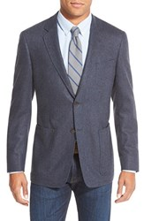 Men's Big And Tall Todd Snyder White Label Trim Fit Herringbone Wool And Cashmere Sport Coat Dark Blue