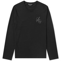 Alexander Mcqueen Long Sleeve Embroidered Logo Tee Black