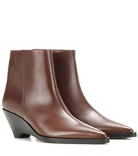 Acne Studios Cony Wedge Ankle Boots Brown