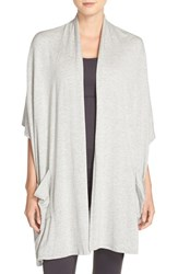 Beyond Yoga Women's 'Origami' Cardigan Light Heather Gray