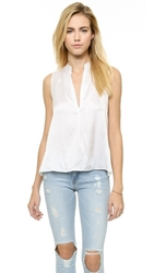 Air By Alice Olivia Back Cowl Top White