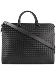 Bottega Veneta Intrecciato Tote Bag Calf Leather Black